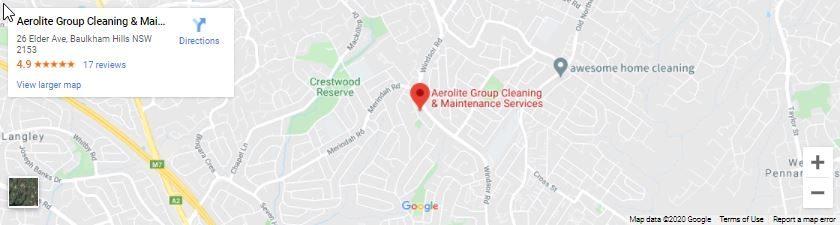 AeroLite Cleaning Google Map